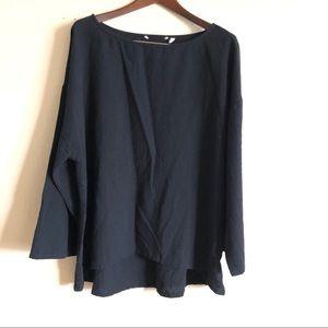 Soft Surroundings || Black 100% Cotton Blouse